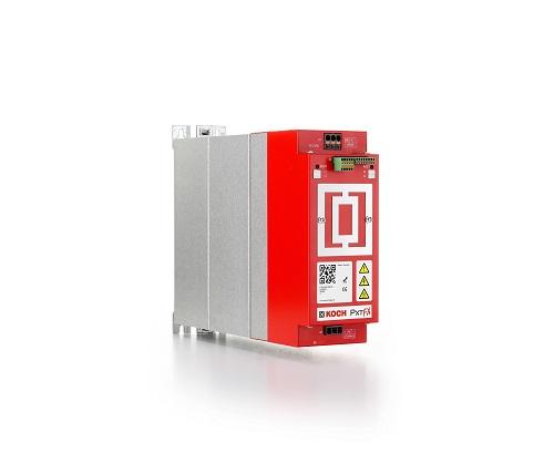 PxtFX heißt das neue aktive Energiemanagementgerät für elektrische Antriebe der Michael Koch GmbH. Im Bild ein PxtFX-Gerät mit vier Kilowattsekunden Speichervolumen.