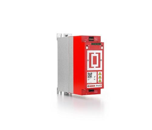 PxtFX heißt das neue aktive Energiemanagementgerät für elektrische Antriebe der Michael Koch GmbH. Im Bild ein PxtFX-Gerät mit zwei Kilowattsekunden Speichervolumen.  Ein PxtFX Gerät mit vier Kilowattsekunden Speichervolumen