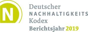 Das Logo des deutschen Nachhaltigkeitskodex für die Berichterstattung 2019.