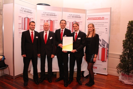 The employees of Michael Koch GmbH are proud because of the award.