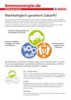 Nachhaltigkeitsflyer der Michael Koch GmbH